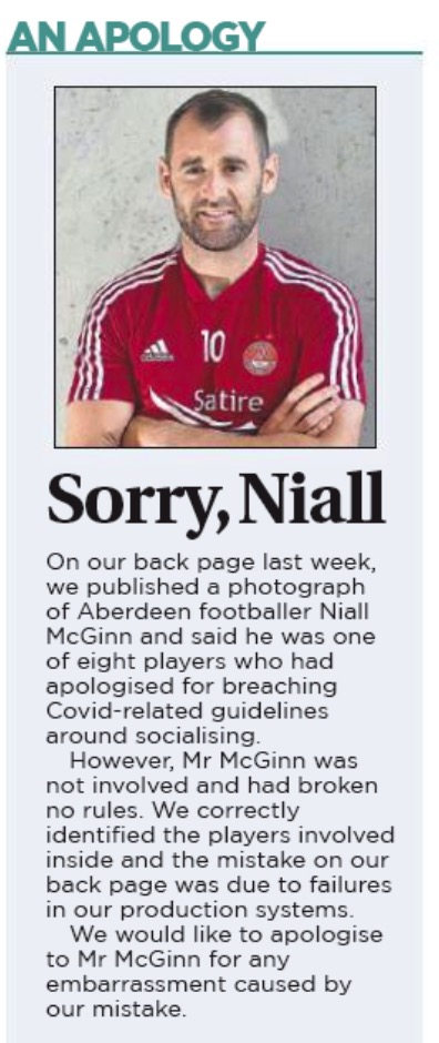 Sunday Post apology